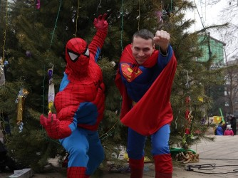 Супермен и Спайдермен
